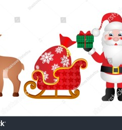 rudolph the red nosed reindeer and santa claus clipart for your design  [ 1500 x 945 Pixel ]