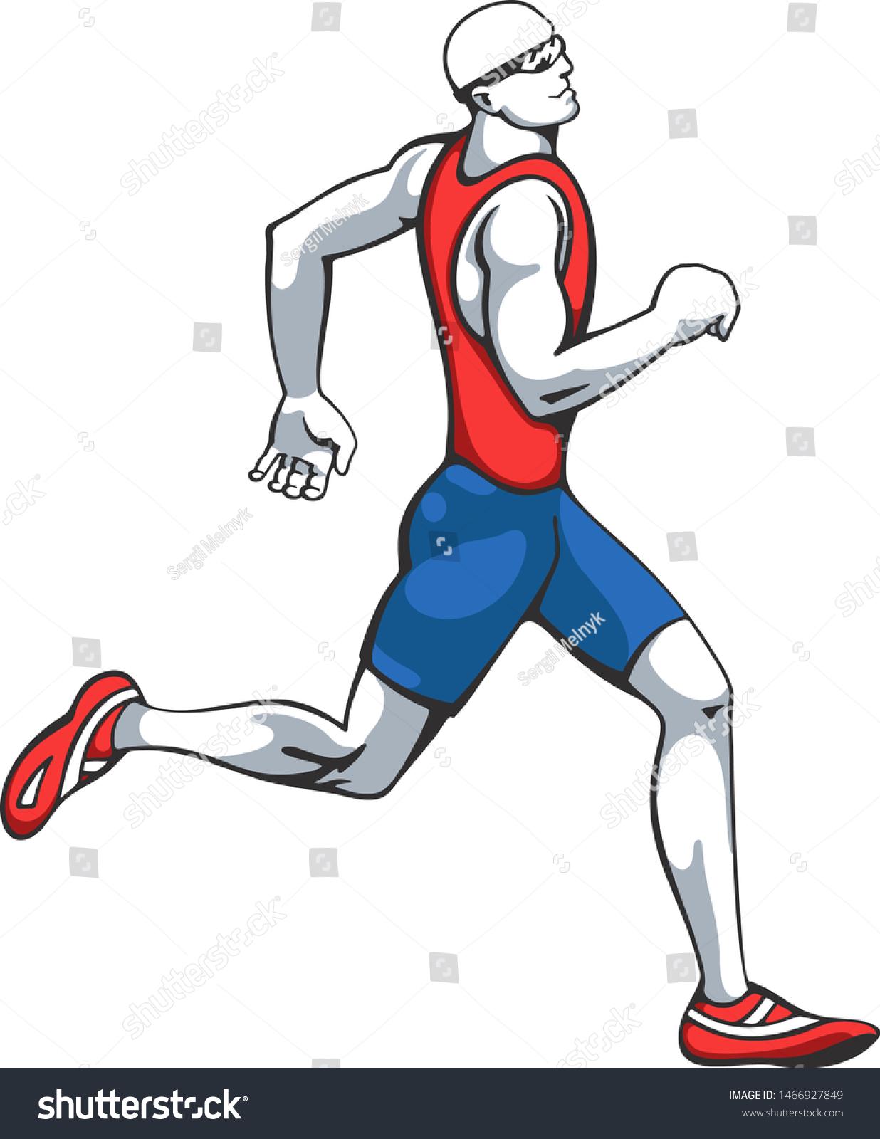 Download Running Man 360 : download, running, Running, Wearing, Sunglasses, Stock, Vector, (Royalty, Free), 1466927849