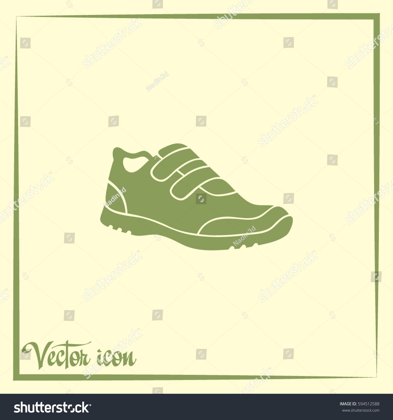 hight resolution of running shoe icon
