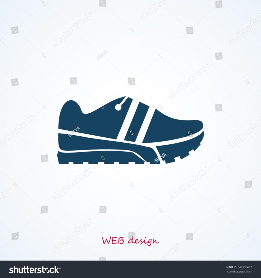 medium resolution of running shoe icon vector best flat icon eps
