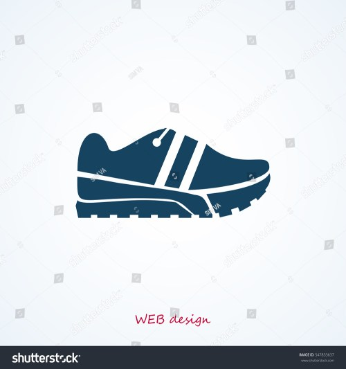 small resolution of running shoe icon vector best flat icon eps