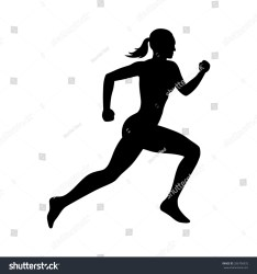 Running Woman Female Fitness Runner Flat Stock Vector Royalty Free 286706933