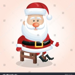 Santa Claus Chair Amish Made Adirondack Chairs From Ohio Sitting Design Graphic Stock Vector