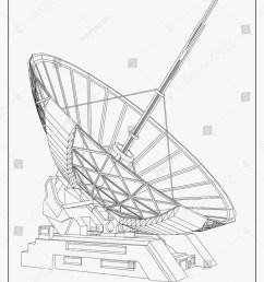 satellite dish vector illustration [ 1167 x 1600 Pixel ]
