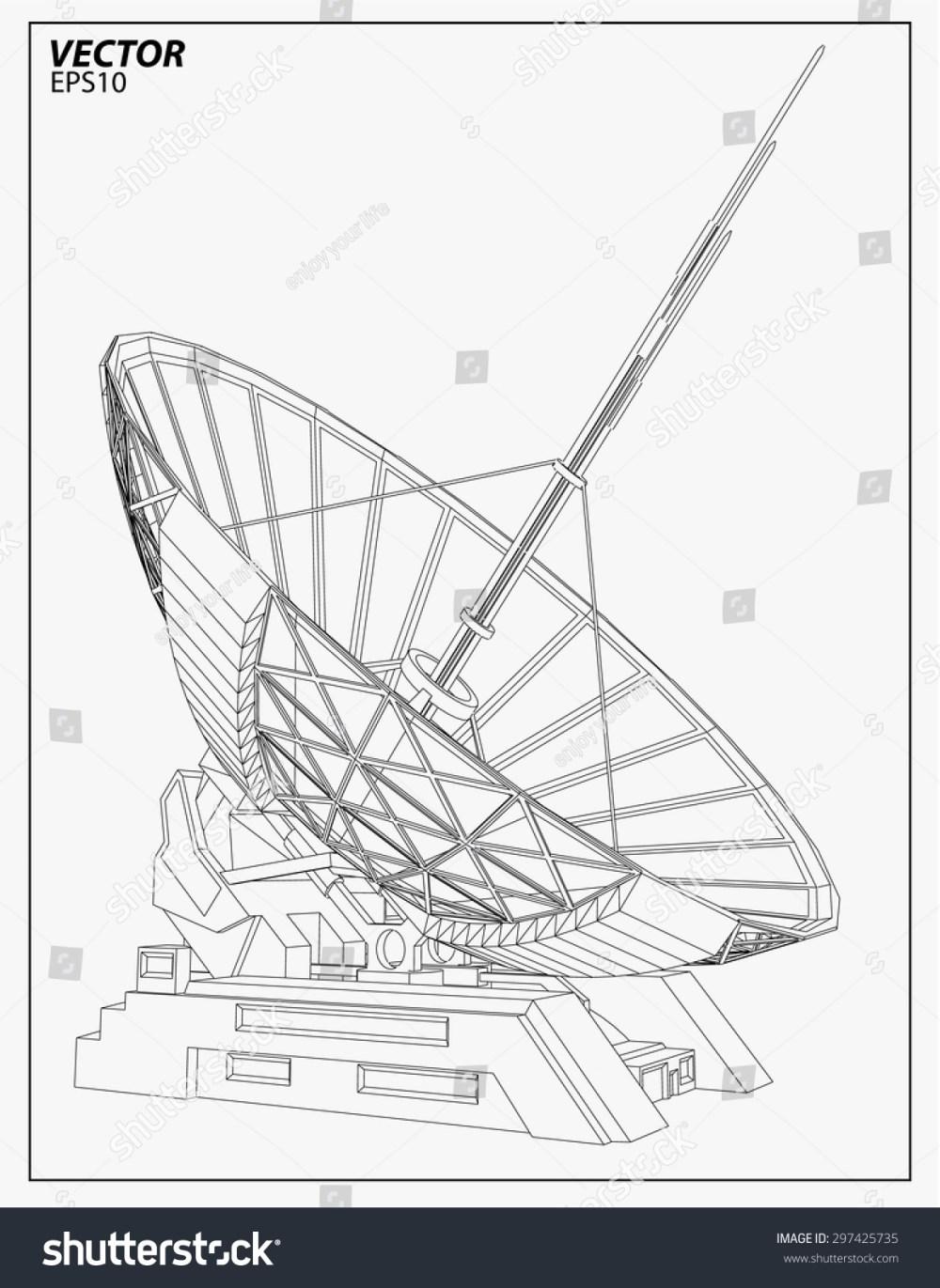 medium resolution of satellite dish vector illustration