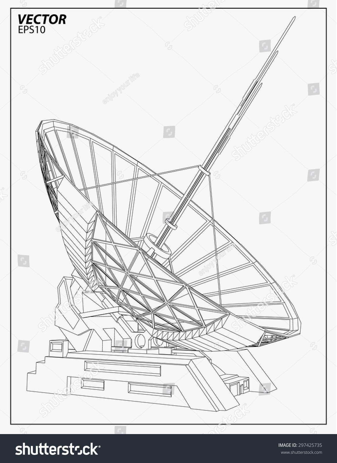 hight resolution of satellite dish vector illustration