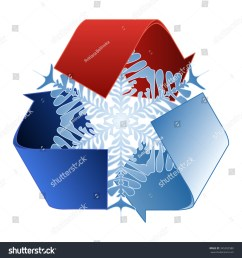 save heat energy saving and recycle symbol with snowflake [ 1500 x 1600 Pixel ]