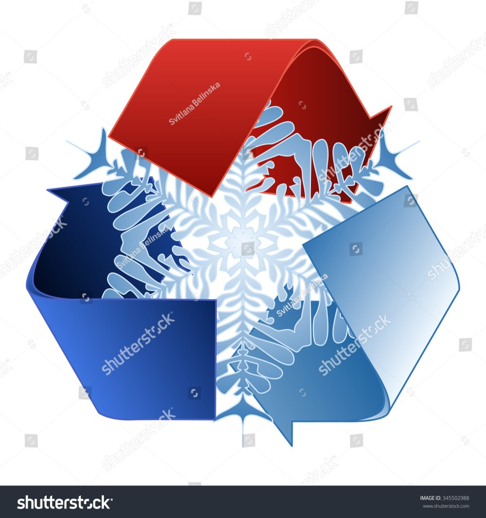 medium resolution of save heat energy saving and recycle symbol with snowflake