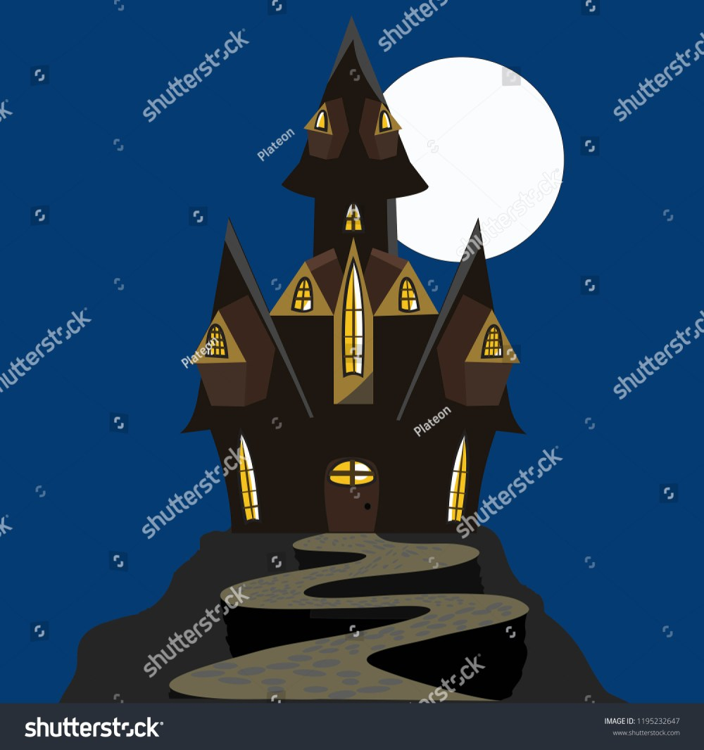medium resolution of scary halloween house haunted house black and brown isolated house with a moon vector clipart clip