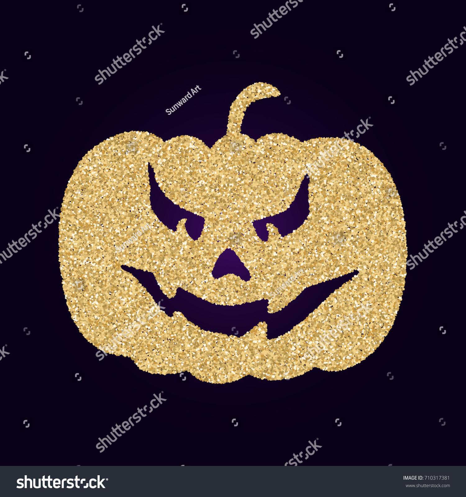 Scary Horror Face Halloween Pumpkin Gourd Stock Vector