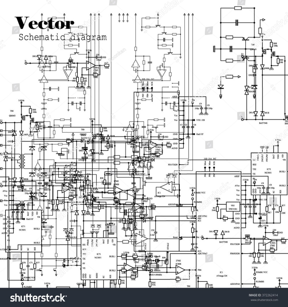 medium resolution of schematic diagram project of electronic circuit graphic