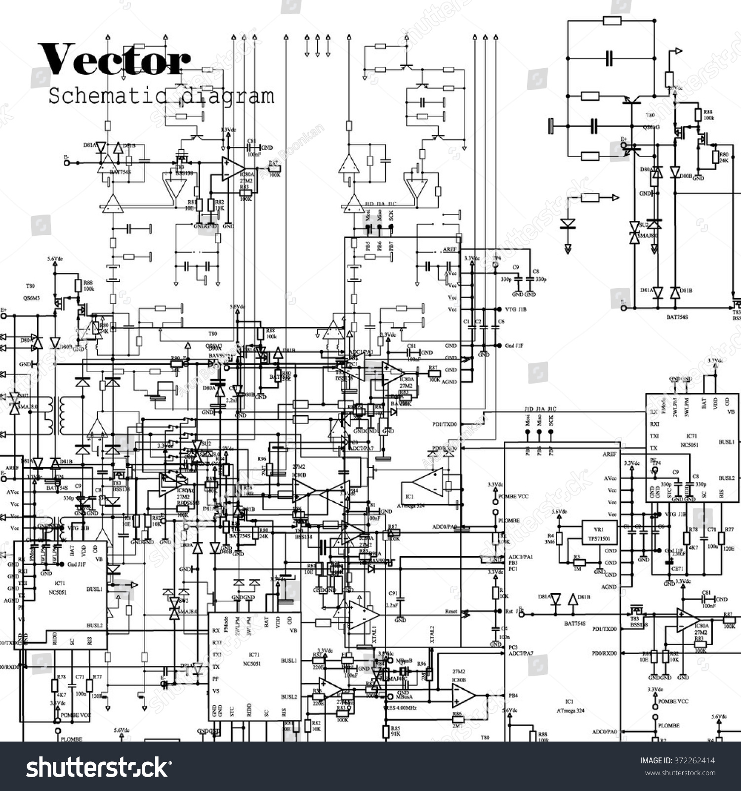 hight resolution of schematic diagram project of electronic circuit graphic