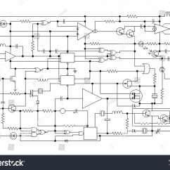 How To Make A Schematic Diagram Universal Ballast Wiring Project Electronic Circuit Graphic Stock