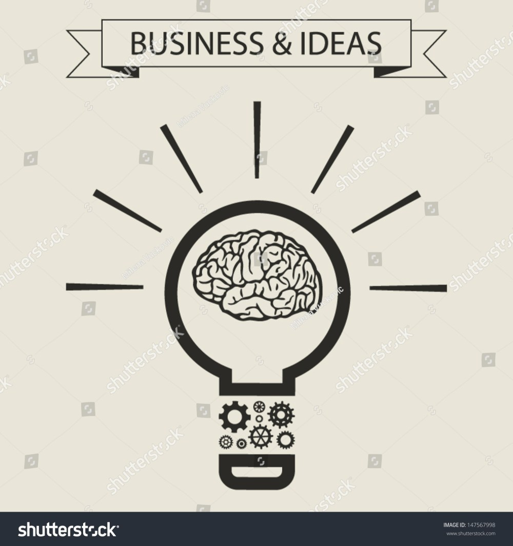 medium resolution of schematic info graphic of smart light bulb business mind and ideas concept vector illustration