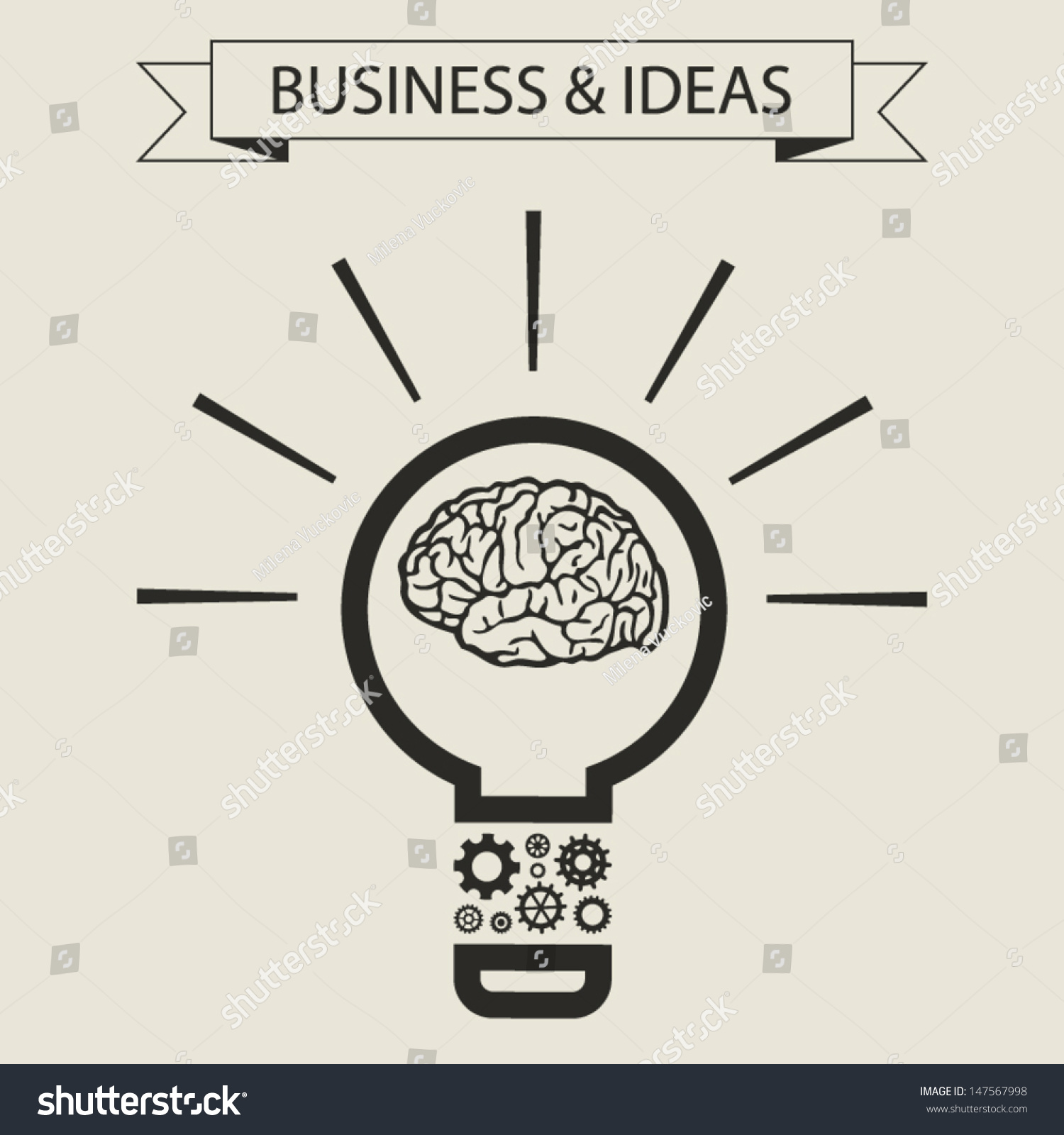 hight resolution of schematic info graphic of smart light bulb business mind and ideas concept vector illustration