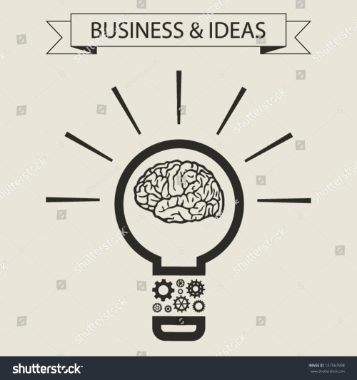 small resolution of schematic info graphic of smart light bulb business mind and ideas concept vector illustration