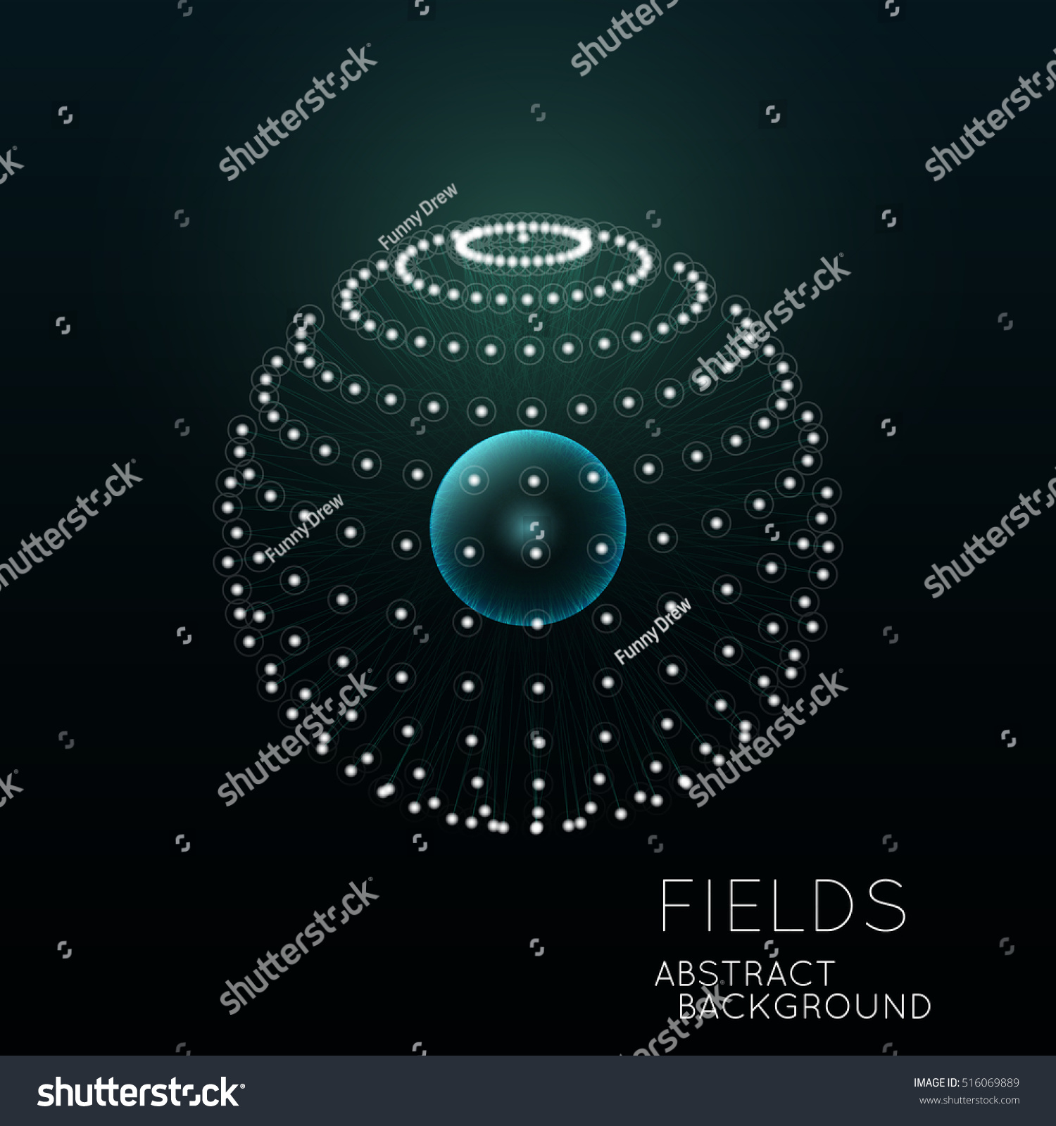 Science Concept Design Physical Forces Fields Stock Vector
