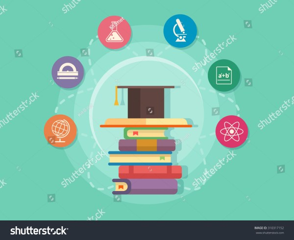 Science Education Icons School University Study Stock