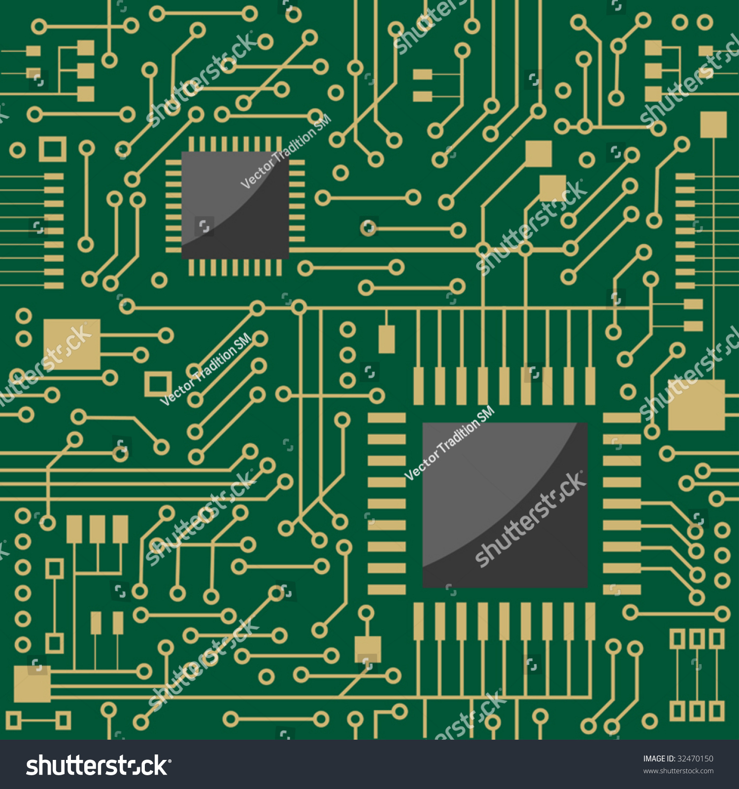 Seamless Background Showing A Schematic Diagram For An