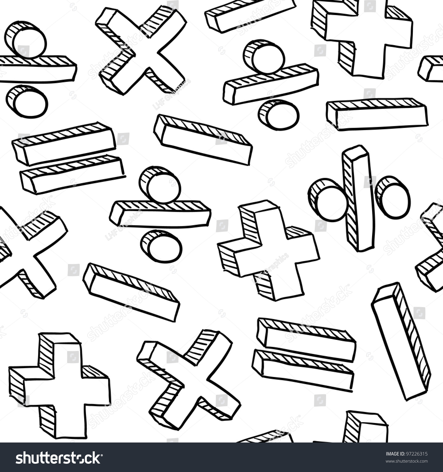 Seamless Mathematics Math Education Background Texture