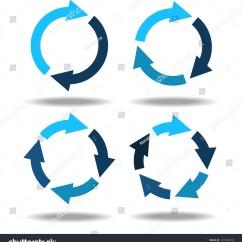Arrow Circular Process Diagram Softball Diamond Set Icons Circle Arrows Cyclical Stock Vector