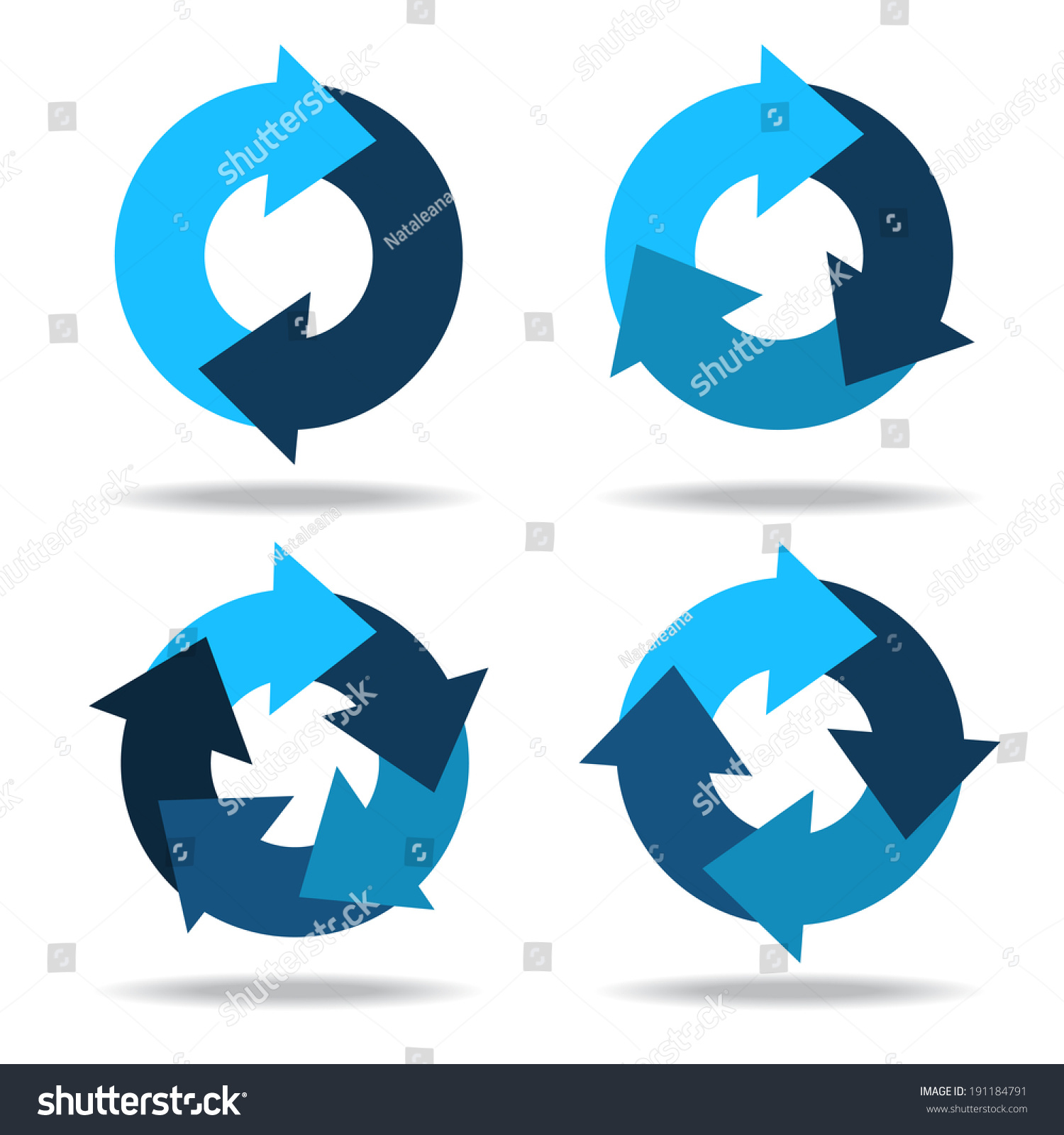 arrow circular process diagram electrical wiring car toyota set icons circle arrows cyclical