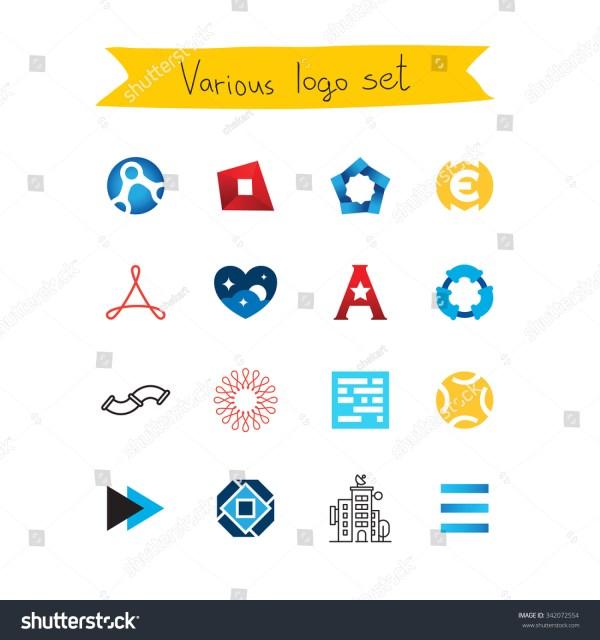 Set Color Vector Logos Stock 342072554