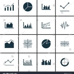 Statistical Analysis Graphs And Diagrams Coronary Arteries Diagram Branches Set Statistics Icons Premium Stock Vector