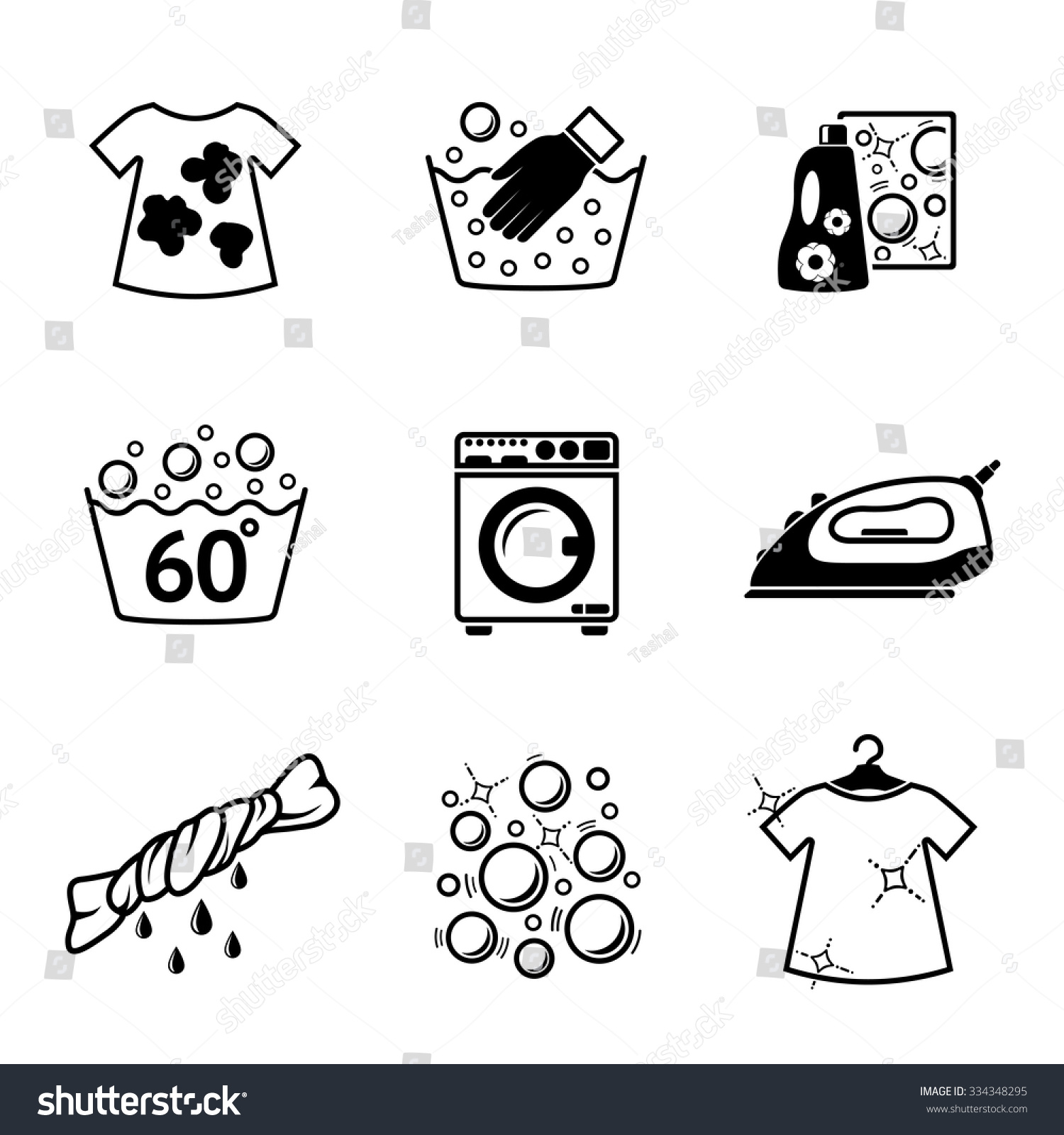 hot water music shirt 1997 honda civic ex stereo wiring diagram set laundry icons clean dirty shirts stock vector