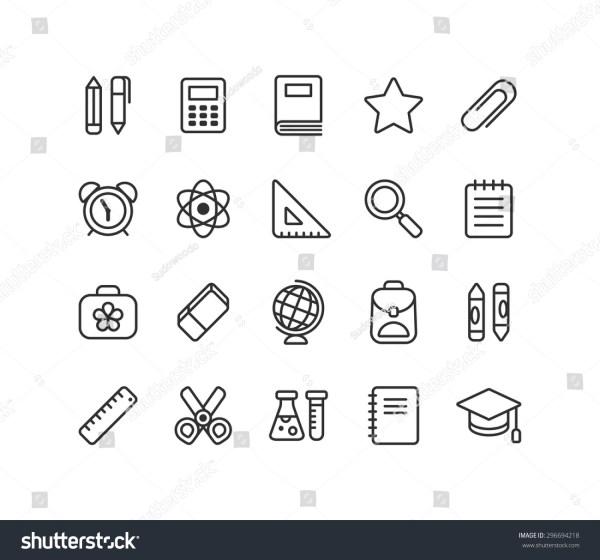 Set School Education Vector Line Icons Stock