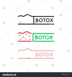 set of thin line simple botox logo flat linear trend modern label graphic design illustration [ 1500 x 1600 Pixel ]