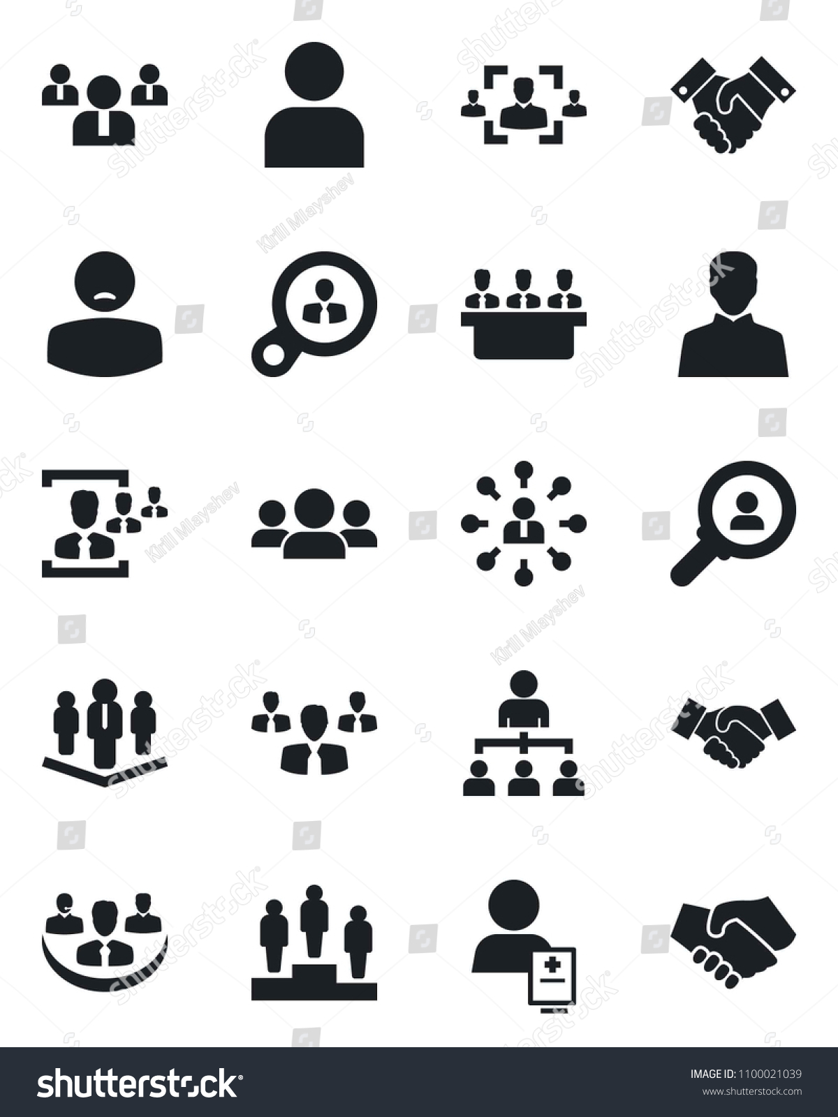 set vector isolated black