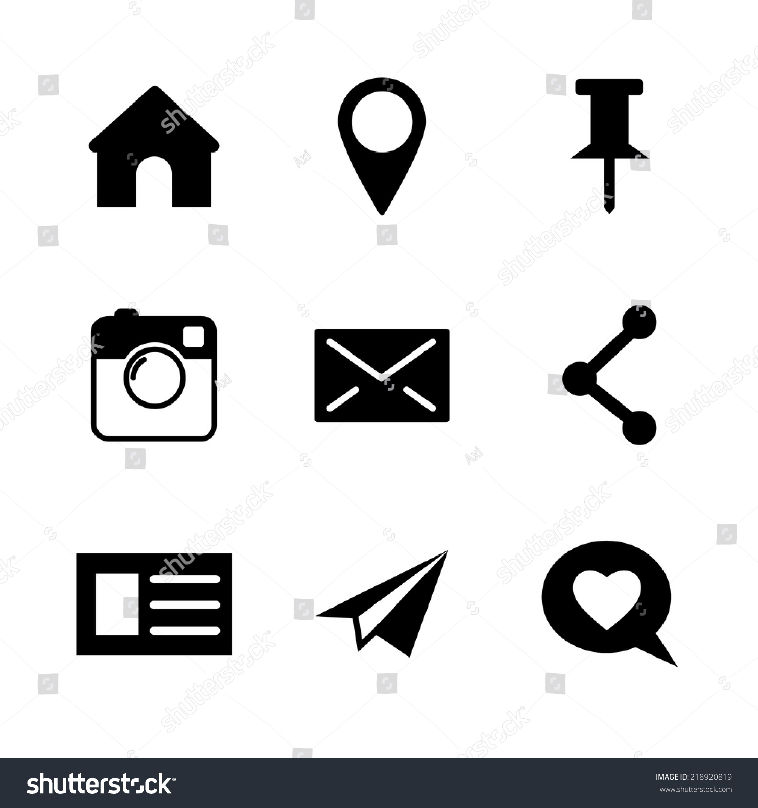 Set Of Vector Social Network Icons Isolated On White