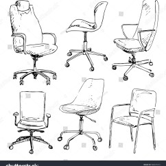 Office Chair Illustration Graco Harmony High Set Chairs Isolated On White Stock Vector 588037673