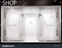 Shop Front Exterior Horizontal Windows Empty Stock Vector ...
