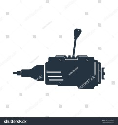 side gear box gear shift transmission isolated icon on white background auto service repair car detail [ 1500 x 1600 Pixel ]