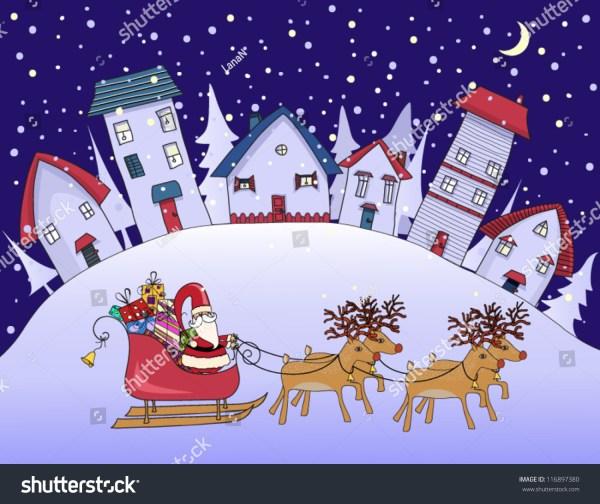 silent night - christmas in village