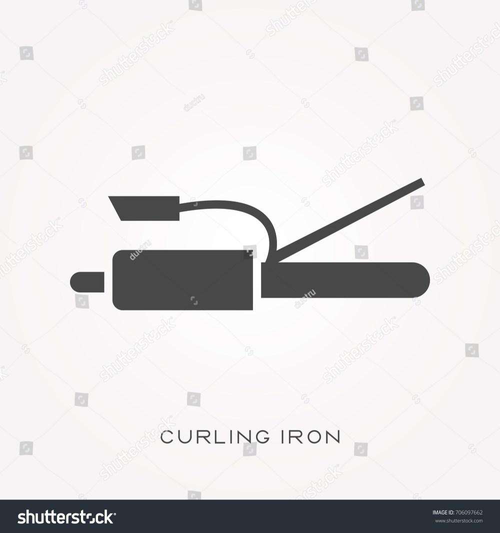 medium resolution of silhouette icon curling iron
