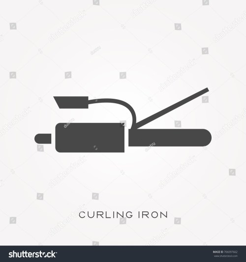 small resolution of silhouette icon curling iron