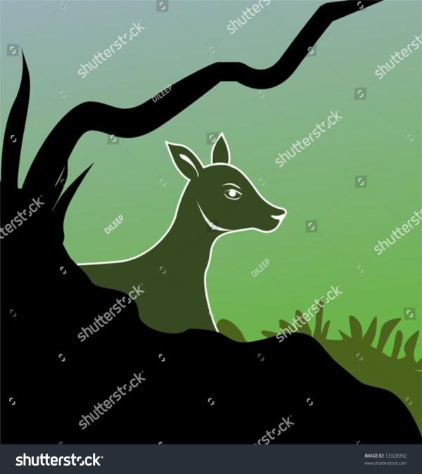 Silhouette Deer Stock Vector 13328992 - Shutterstock