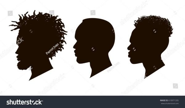 Silhouettes African American Men Profile Stock Vector 610971335 - Shutterstock