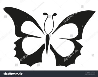 Simple Butterfly Black White Stock Vector Royalty Free 248381428