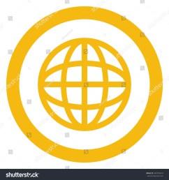 simple flat design earth globe diagram inside circle icon vector illustration [ 1500 x 1600 Pixel ]