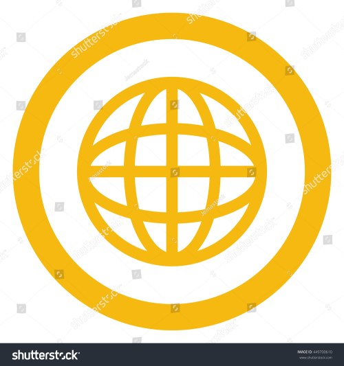 small resolution of simple flat design earth globe diagram inside circle icon vector illustration
