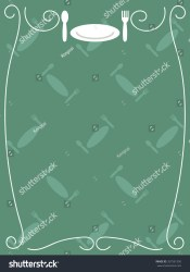 menu simple frame template spoon fork dish icon shutterstock vector