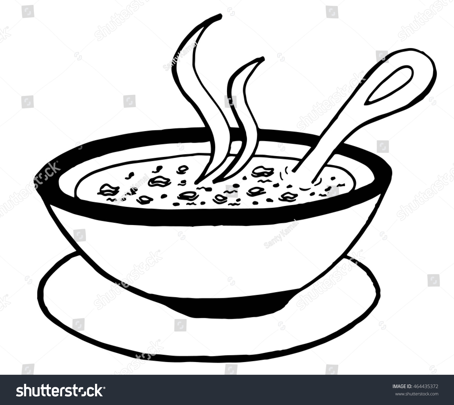 hight resolution of simple hand drawn doodle of a bowl of soup