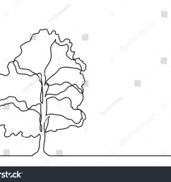single line drawing of tree [ 1500 x 1161 Pixel ]
