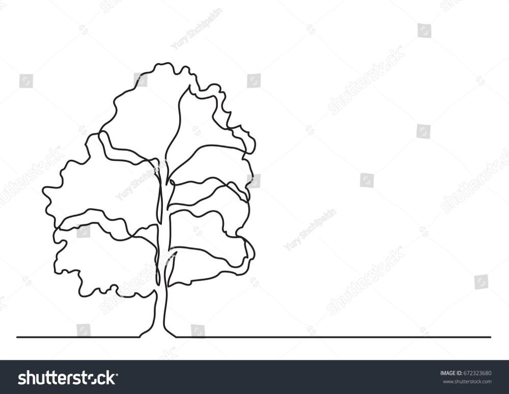 medium resolution of single line drawing of tree