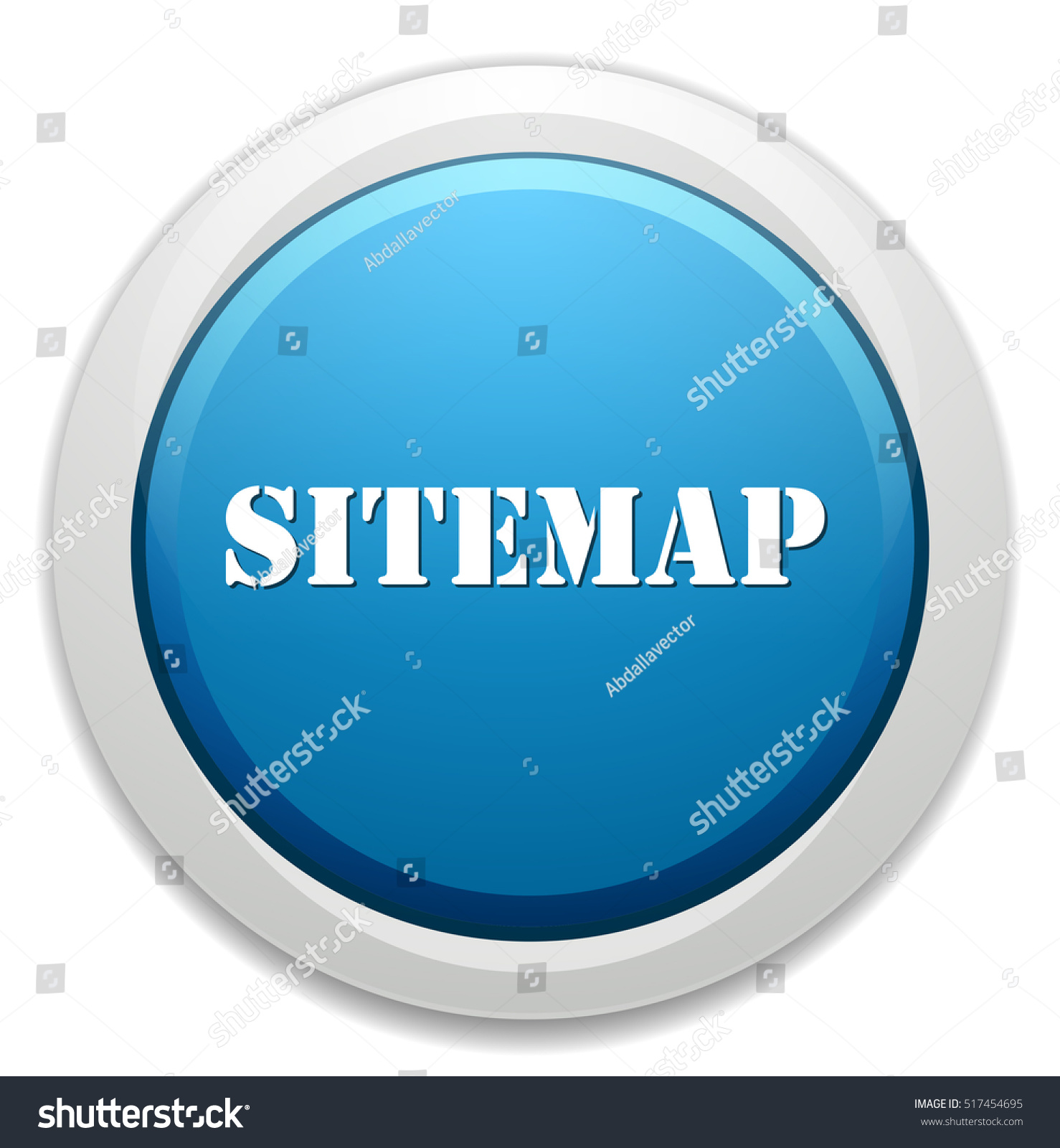 Sitemap Icon Stock Vector Illustration 517454695