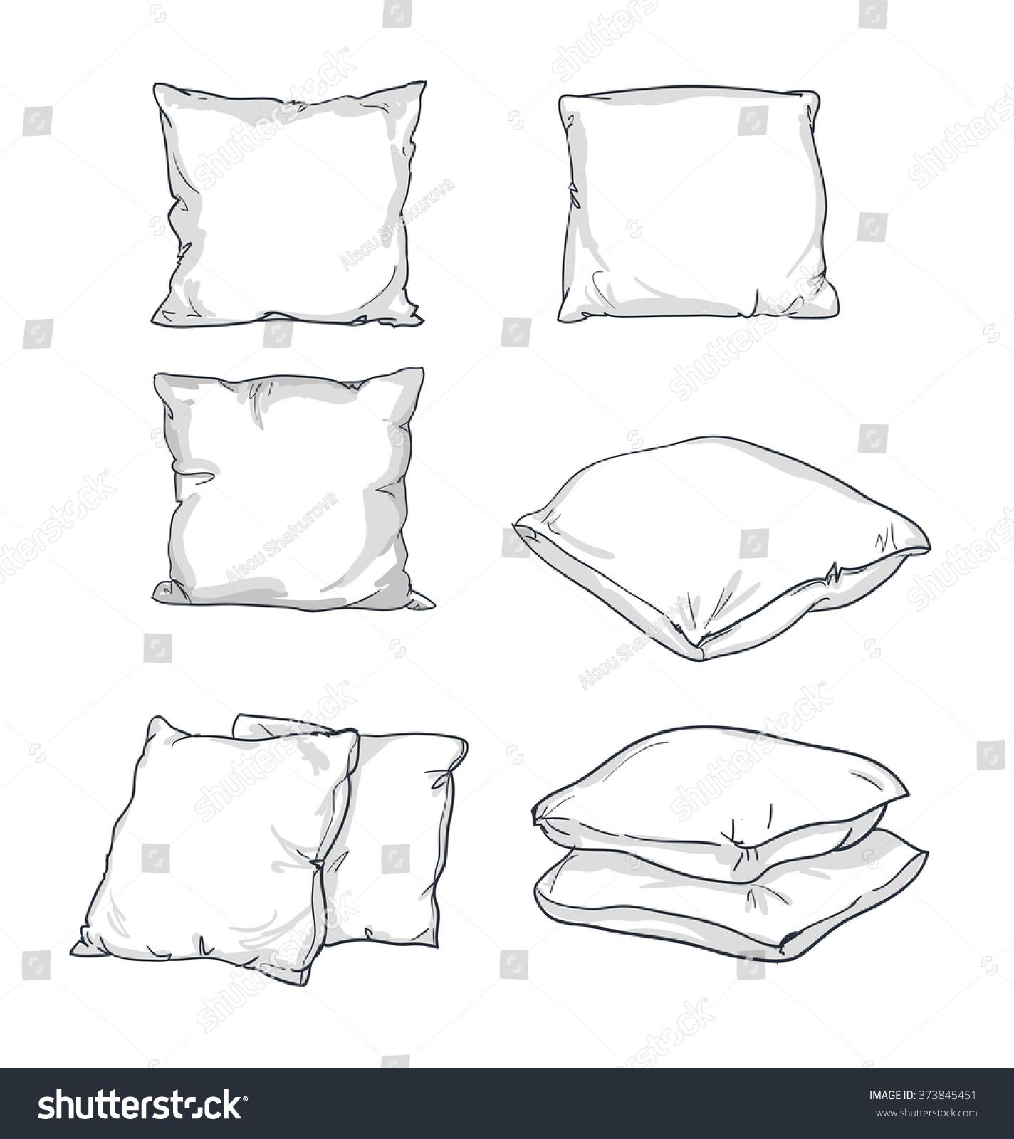 https www shutterstock com image vector sketch vector illustration pillow art isolated 373845451